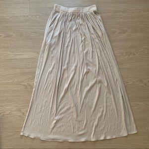 NWOT Dove Grey Zara Woman Silky Maxi Skirt